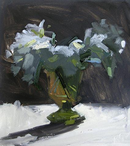 Irises and Hydrangea I