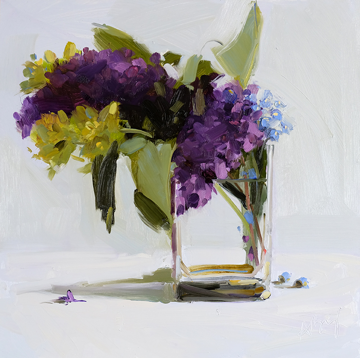 Lilacs, Forget-Me-Nots, and Evening Primrose