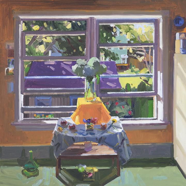 Fall Interior with Hydrangeas