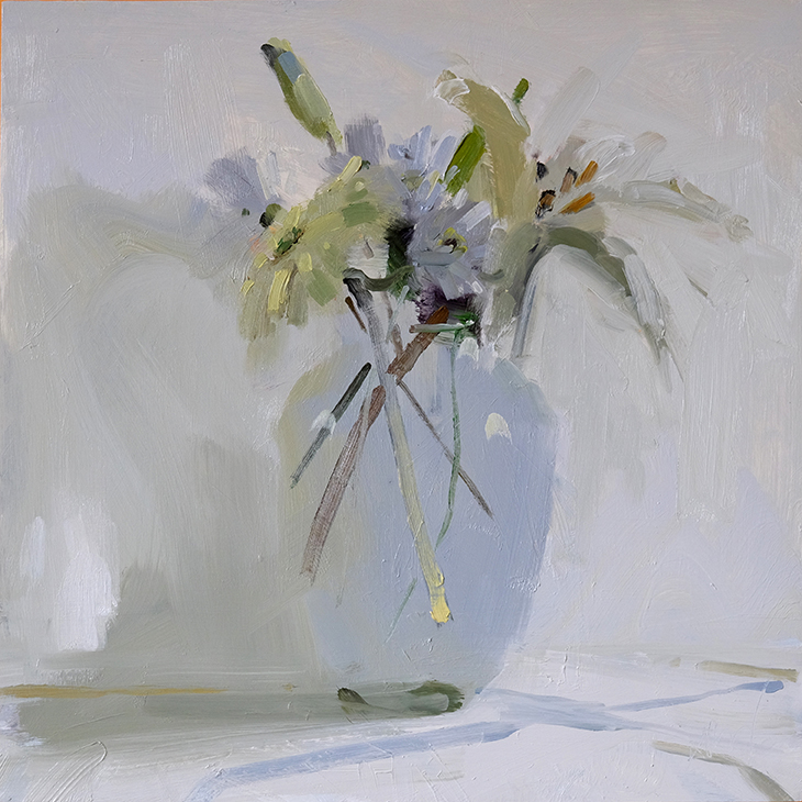 Gerber and Lilies (White)
