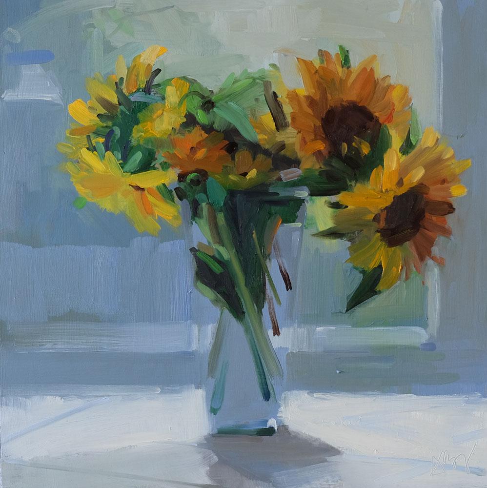 Sunflowers, Hazy Day