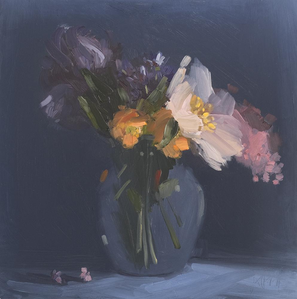 Peony, Iris, Lilac and Poppy.  June Bouquet