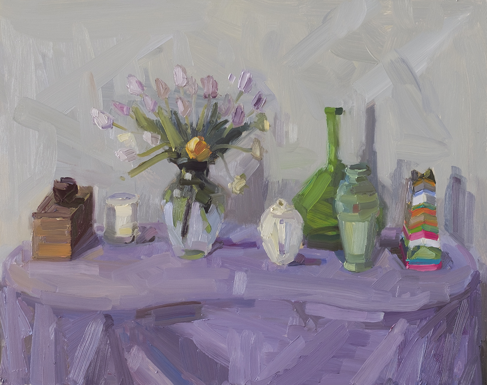 Tiny Purple Still Life