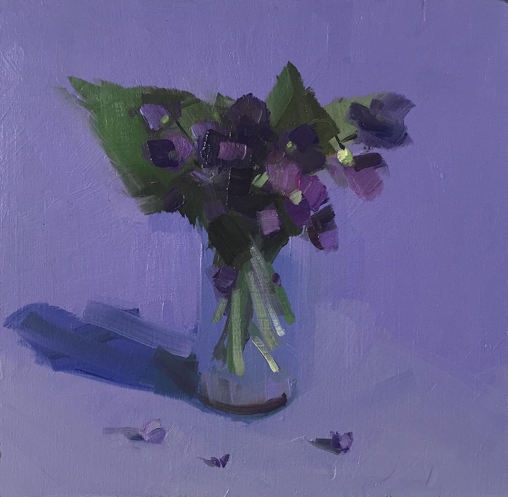 Violets on Violet