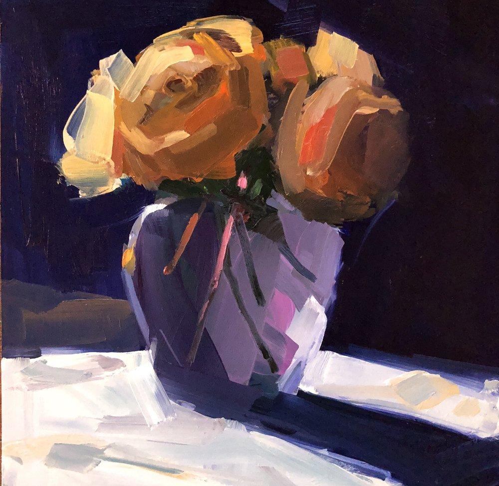 Orange Rose 2, December Afternoon