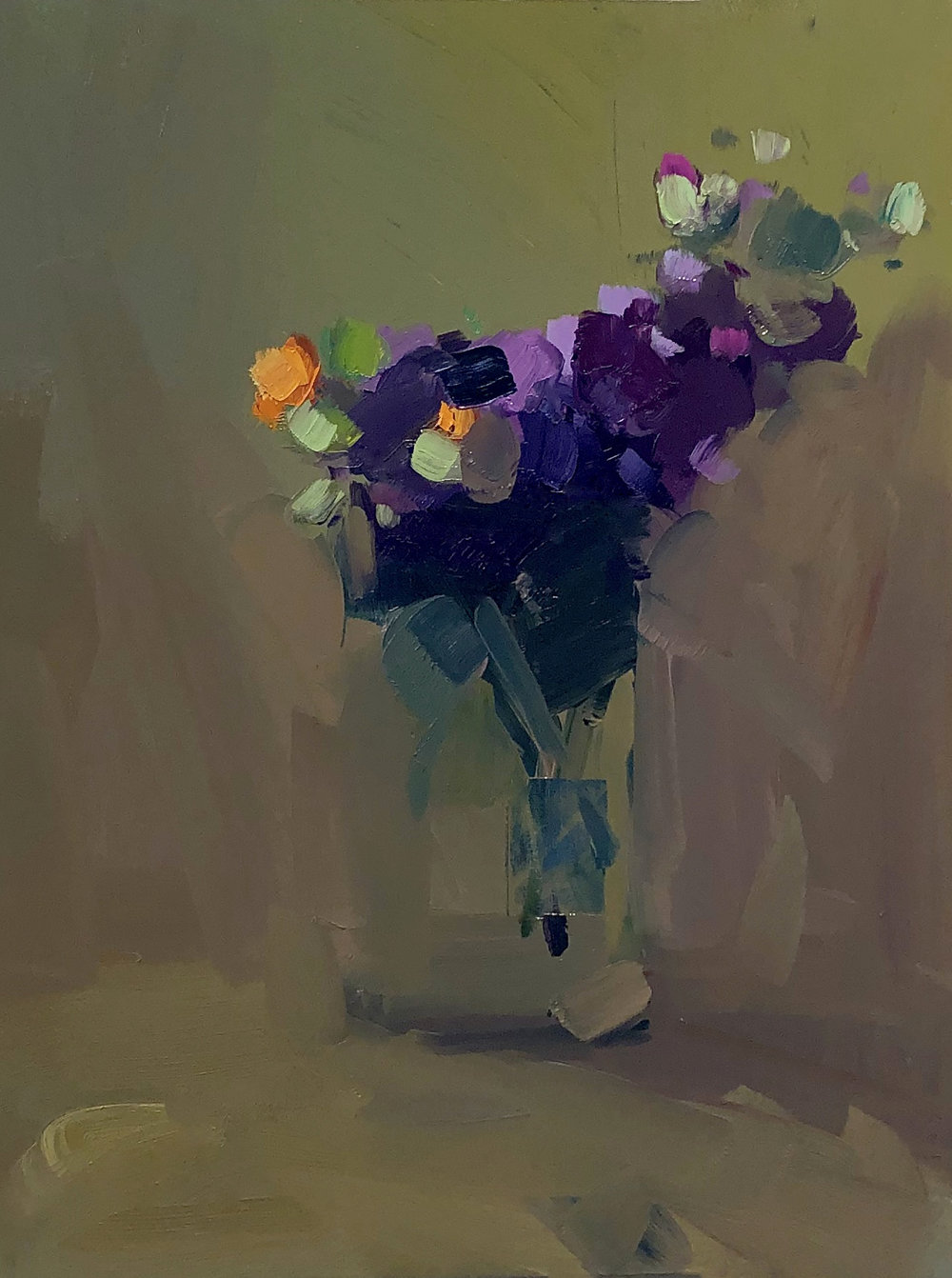 Stage I, January Bouquet I, 14 x 11. Oil on panel.