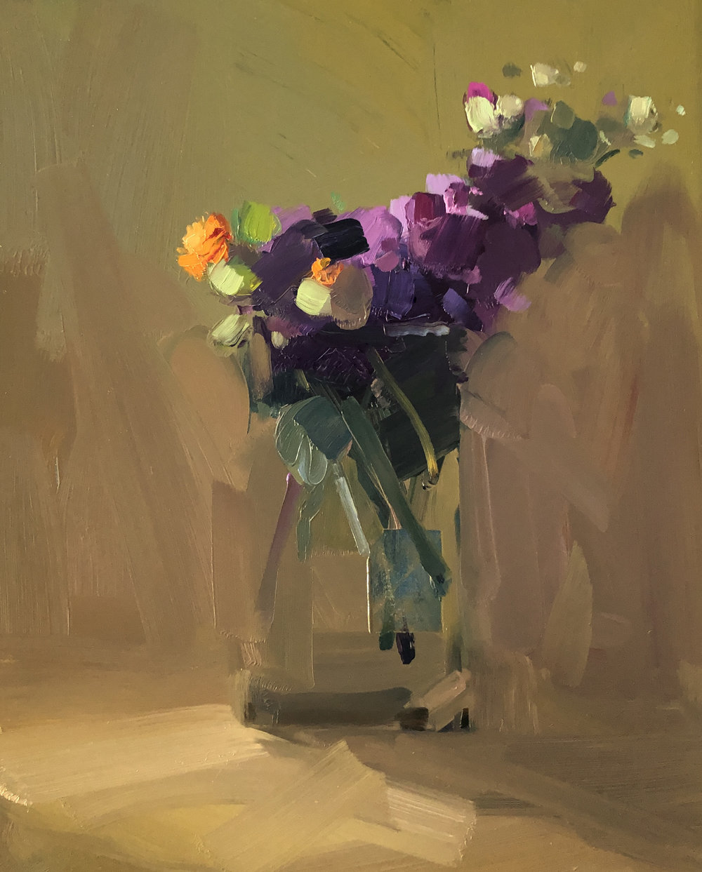 Stage II, January Bouquet I, 14 x 11, oil on panel.