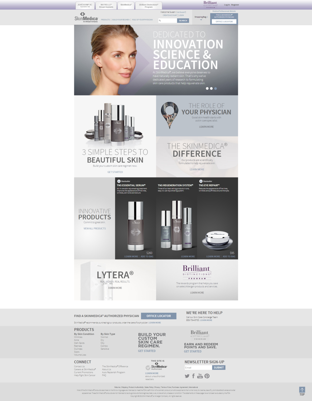 SkinMedica Consumer Website