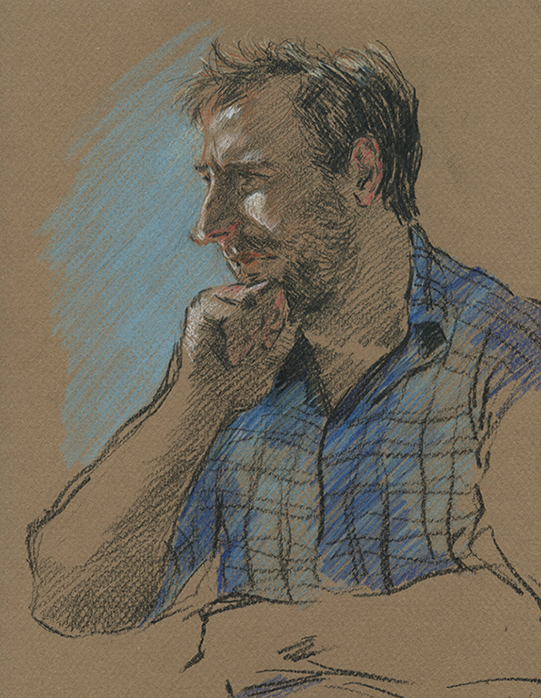 Did this drawing study before i started a painting of my friend Scott.