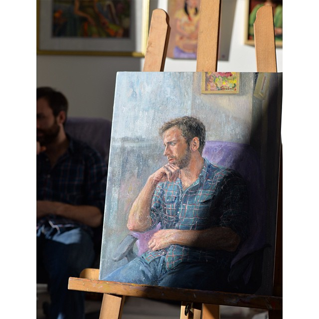 Life painting with my friend Joseph #oilpainting #painter #portrait #lifepainting
