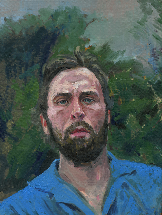 just did a quick study of Scott, with broader strokes and thicker paint.