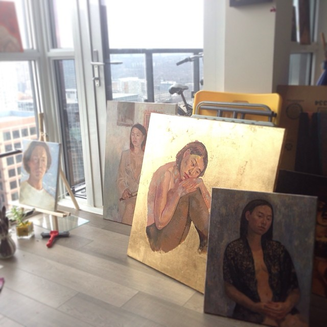 some pictures I've been working on recently #painting #studio #oilpainting