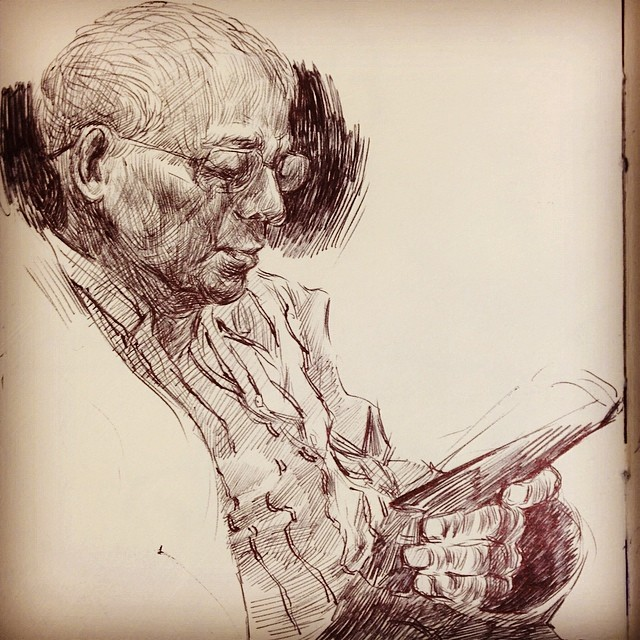 reading #drawing #ballpointpen #sketching #reading