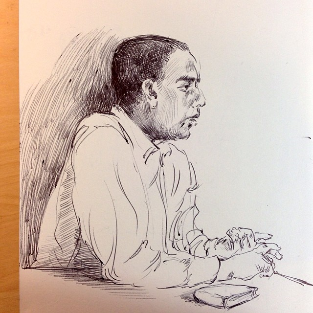 A Guy talking about Bible in library #drawing #sketch #doodle #ballpointpen #sketching #biblestudy #art #sketching
