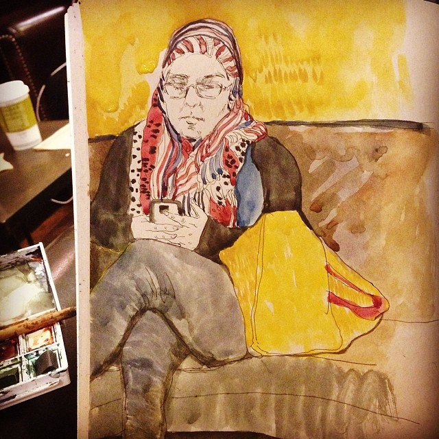 I think she noticed #watercolor #painting #sketching #mixmedia