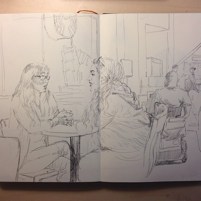 At Starbucks today #drawing #figuredrawing #sketching