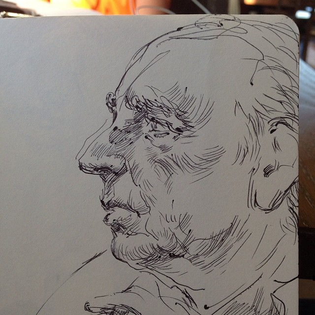 #drawing #sketch #ballpointpen #figure #portraitdrawing