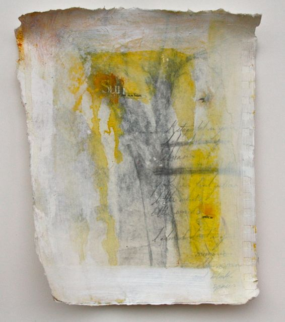 "Yellow 7""x9"" mixed media on paper 2013"