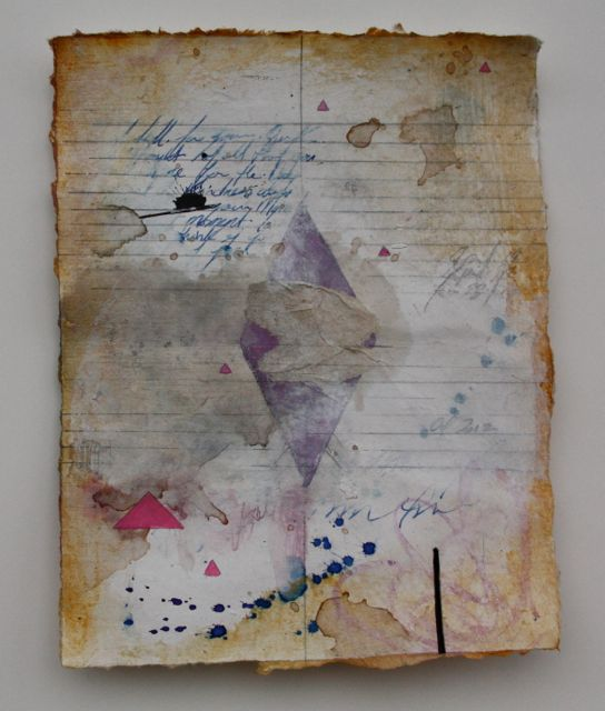 "Love letter 7""x9"" mixed media on paper 2013"