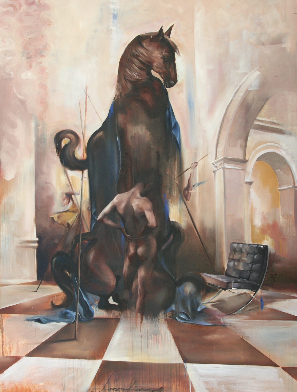 "Serafinos oil on canvas 72""x96"" 2012"