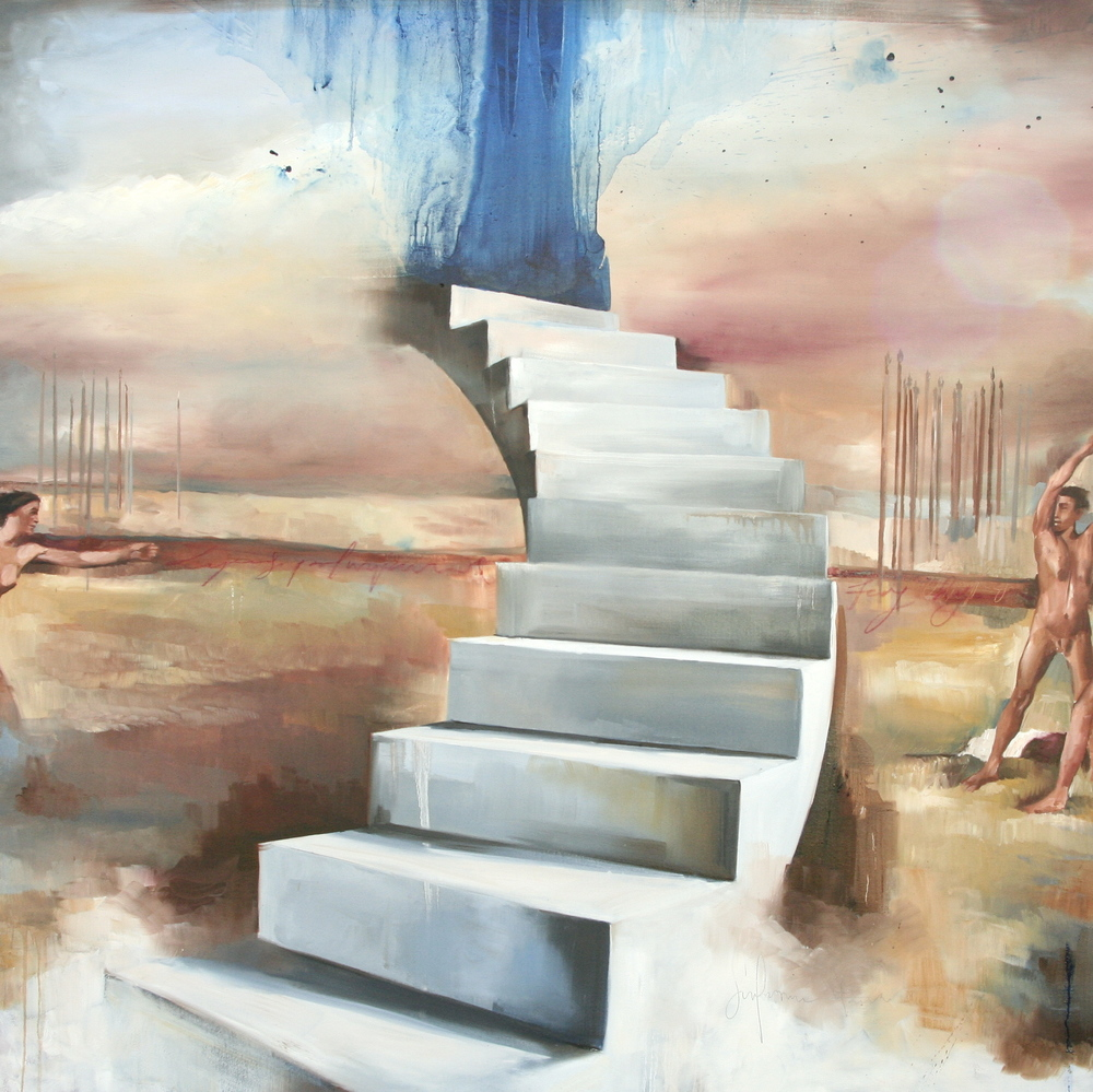 "Silke oil on canvas 72""x72"" 2012"