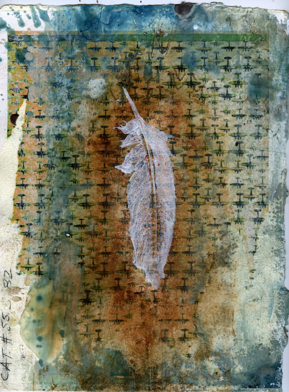 "Cat. # 553982 mixed media on paper 8.5""x11"" 2009"