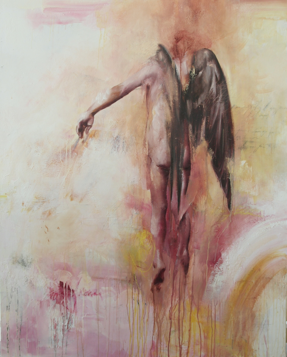 "Apotheosis   oil on canvas 48""x60""2008-2009"