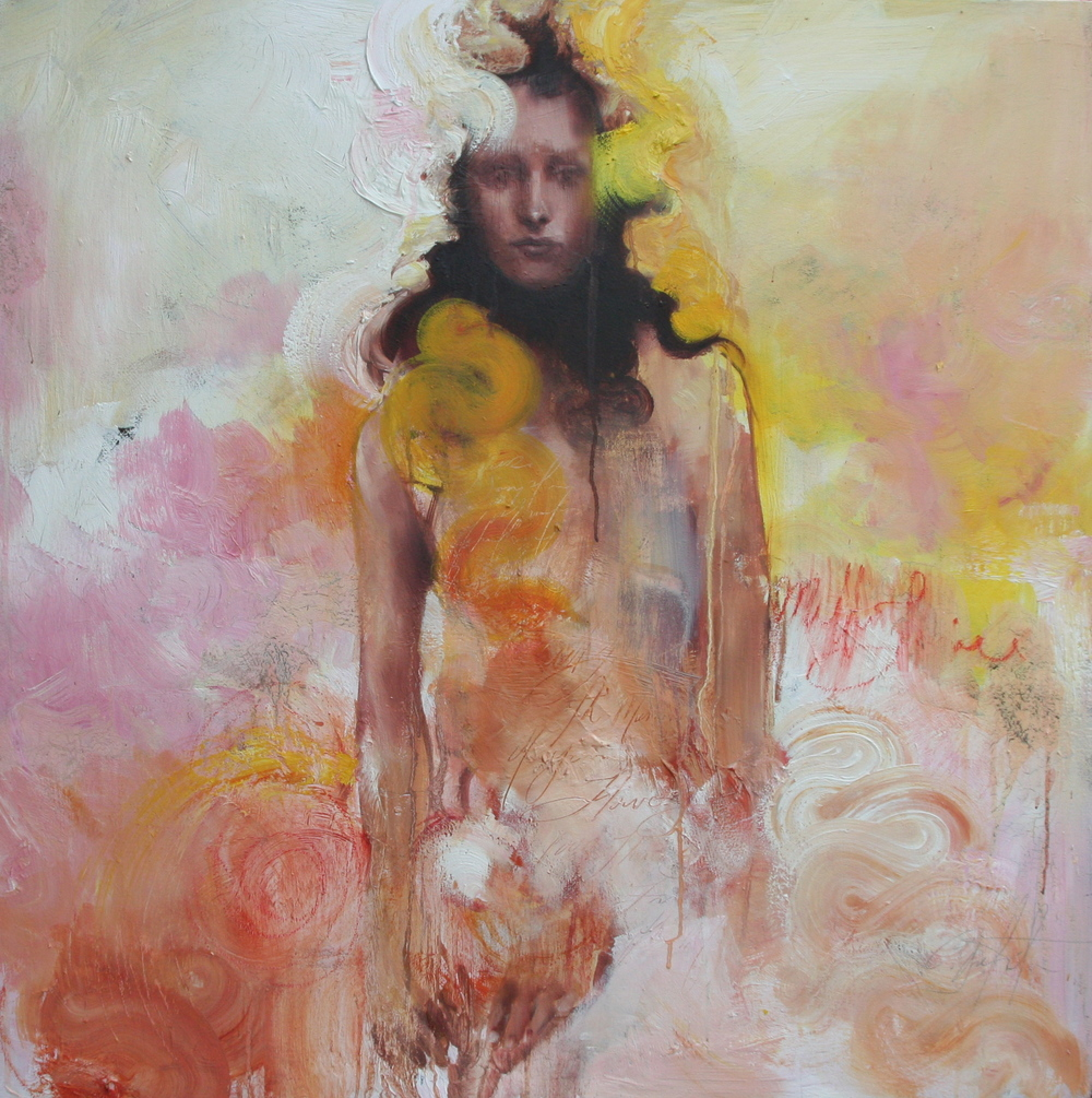 "I was Chloris, who am now called Flora  oil on canvas 36""x36"" 2008"