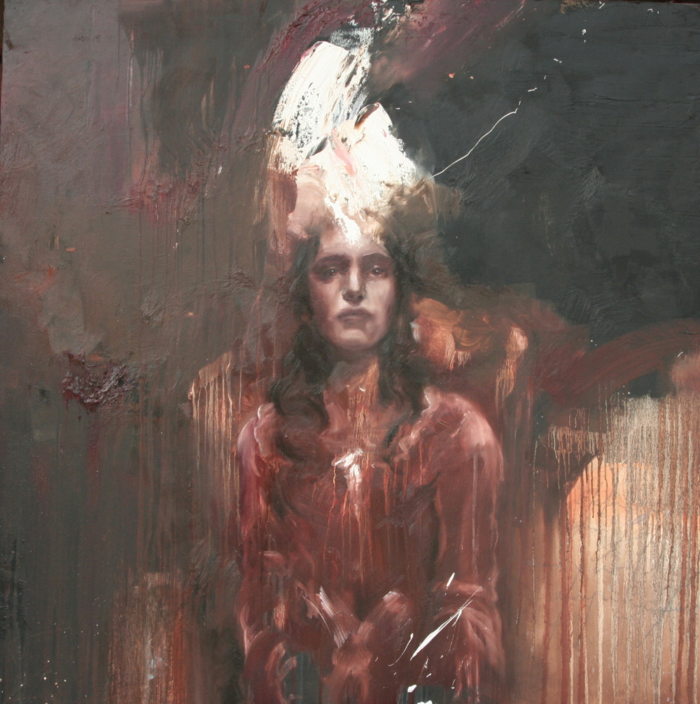 "Tristeza's Crown 48""x48"" oil on canvas 2009"