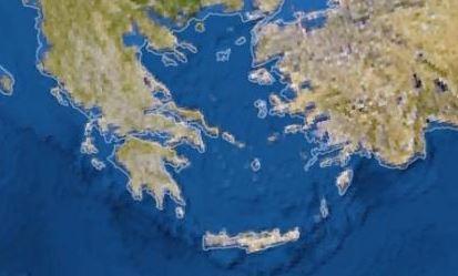 Είναι εμφανές, όπως βλέπετε στον χάρτη, ότι λείπουν σχεδόν όλες οι Κυκλάδες, καθώς σύμφωνα με την έρευνα βρίσκονται στο επίκεντρο της κλιματικής αλλαγής και απειλούνται προς εξαφάνιση