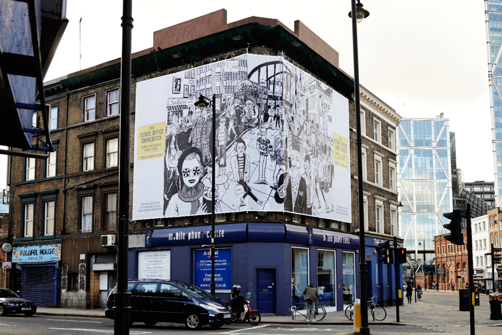 Branding The Estate Office Shoreditch outdoors and online