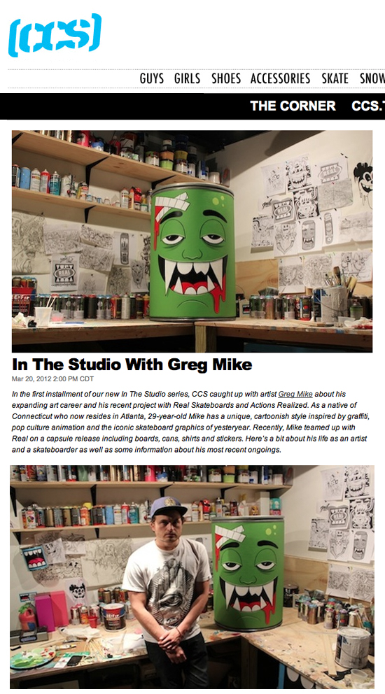 CCS INTERVIEW - IN THE STUDIO WITH GREG MIKE — THE ART OF