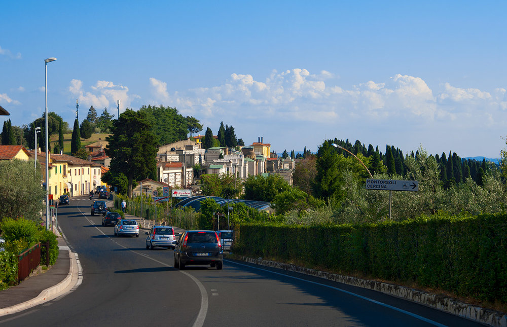 Tuscan country road