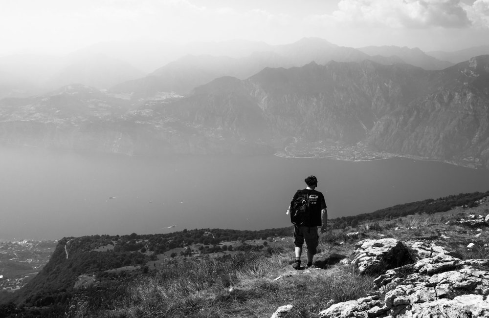 On top of Monte Baldo with Lake Garda view