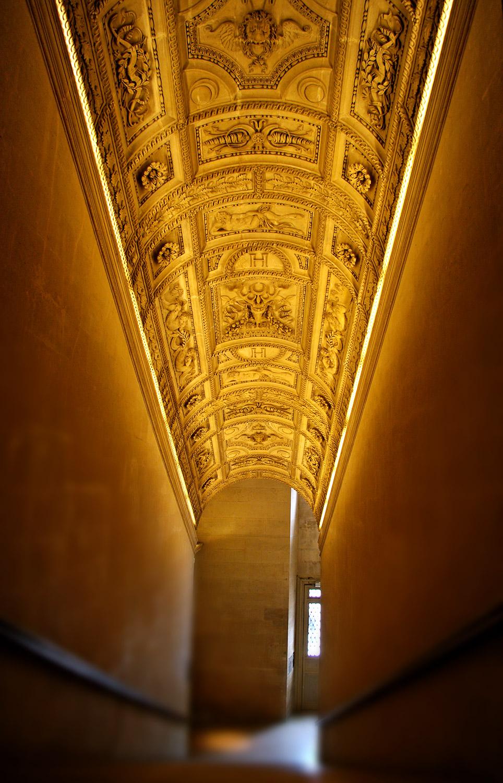 The Louvre hallway in Paris France