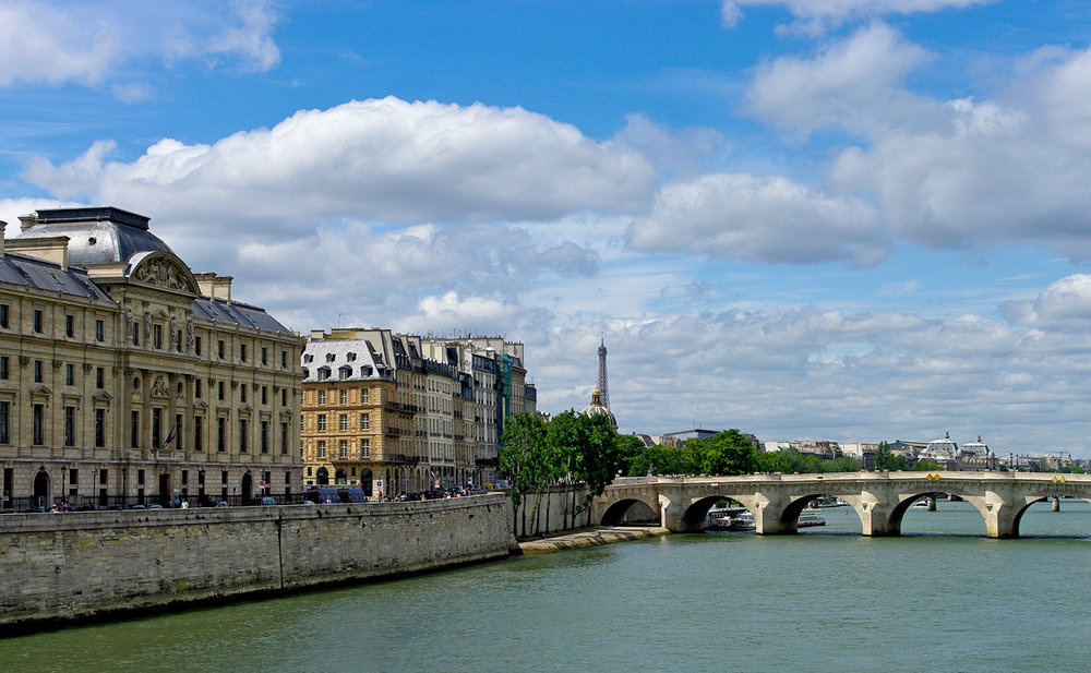 City-Scape of Paris with Eiffel Tower