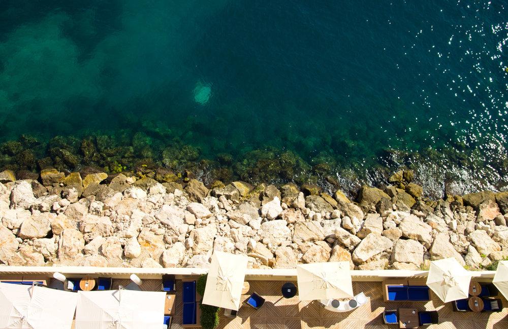 Rocky beach of Monaco