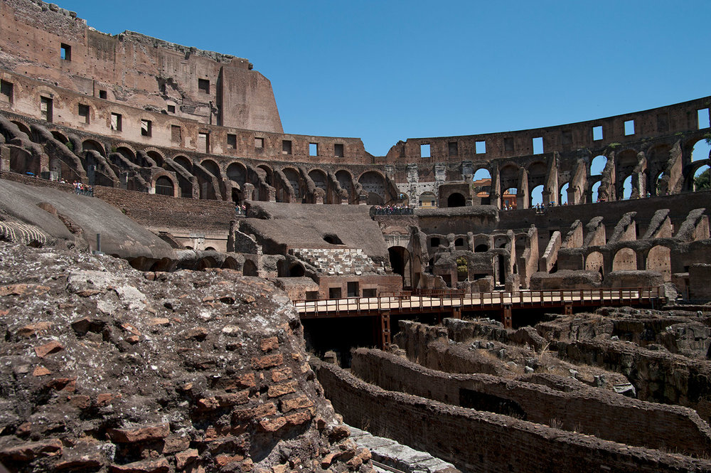Colosseum in Rome, inside view