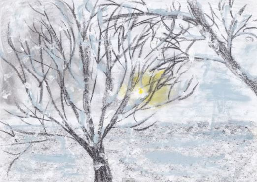 "Click to listen to Claude Debussy's ""The Snow is Dancing"""