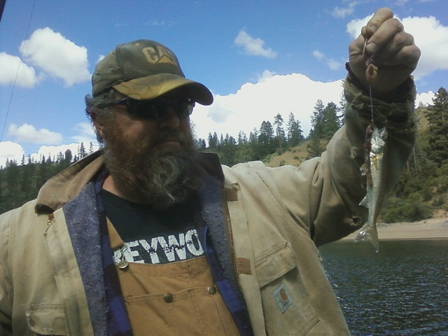 Gene caught this five inch walleye in The Narrows. He didn't know whether to laugh or cry.