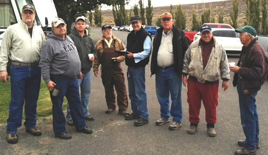 Members from Spokane Walleye Club and the Tri-Cities Club meet for breakfast at Lyons Ferry.