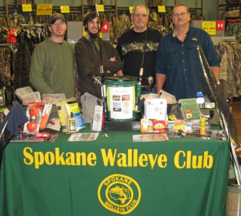 Spokane Walleye Club members selling tickets in 2013. So friendly, so helpful, soooo ready to take your donations!!!