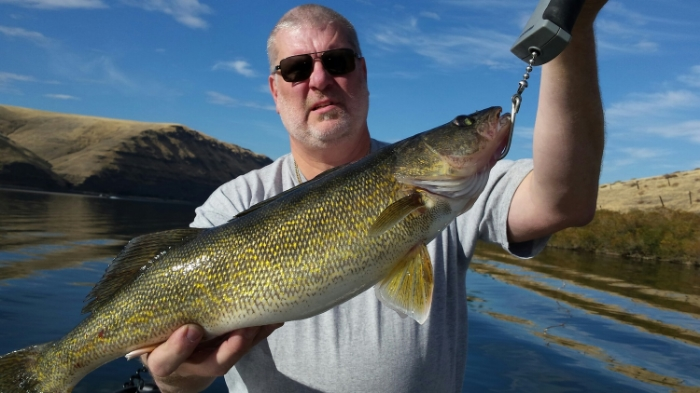 Allan's 5 pound walleye.
