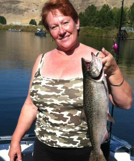 Adele with a funny looking walleye.