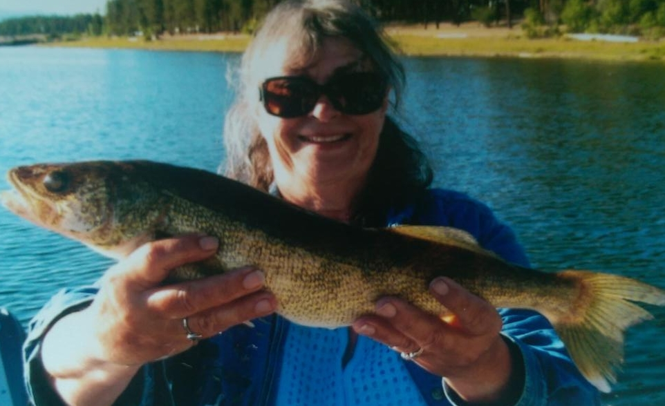 Linda's 19.5 inch walleye.