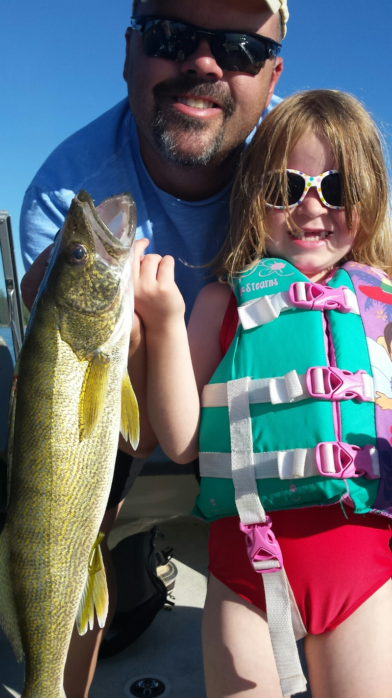 Lindsay K caught her new personal best walleye.  Hauled it in all by herself! 24 inches and 4lb 6oz.  Released.  July 4th.