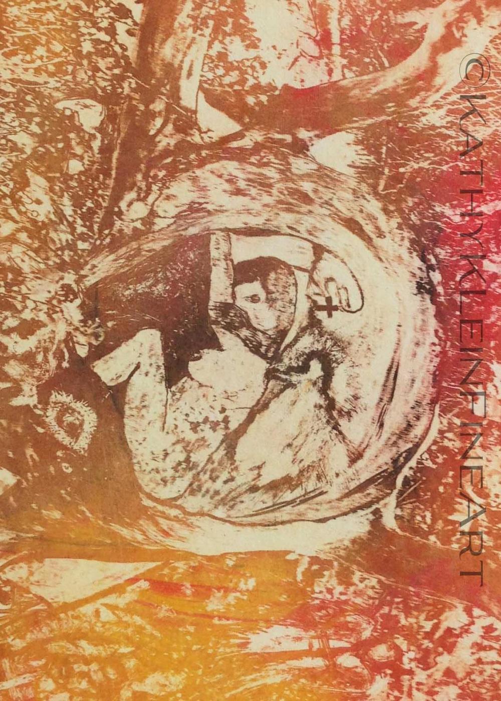 Lost Soul Intaglio print 16 x 20