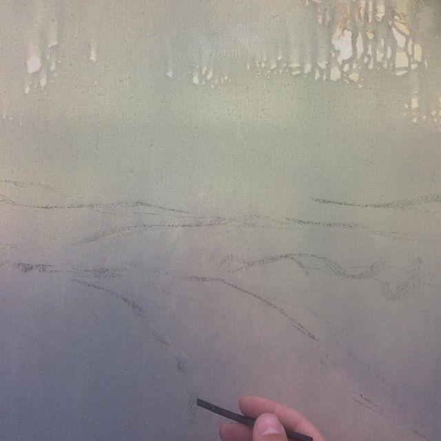 Skissar fram nya tavlor! Skönt att ha kommit igång igen med måleriet efter några månaders uppehåll.