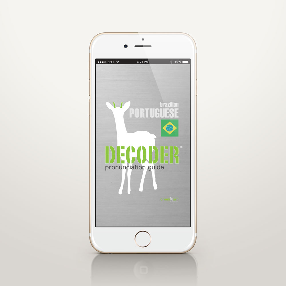 Decoder Pronunciation Guide iPhone App Brazilian Portuguese