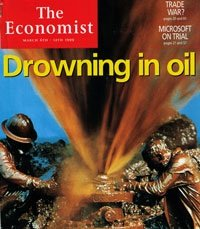 Economist cover story in 1999, predicting an oil price drop from $10 to $5. Whoops.